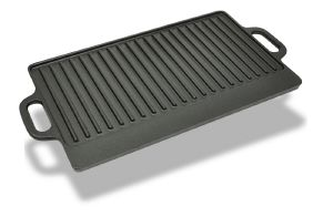 Plancha en fonte réversible XL plaque grill à pizza
